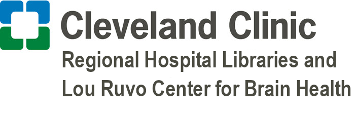 logo: cleveland clinic regional hospital libraries Lou Ruvo Center for Brain Health