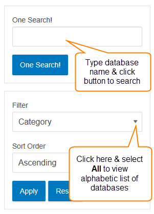Database Search Features